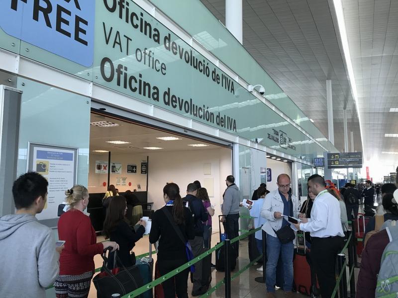 Пункт возврата такс фри в терминале 1