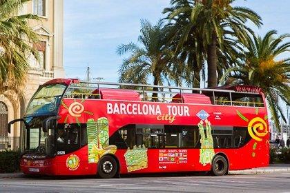 Туристические автобусы в Барселоне
