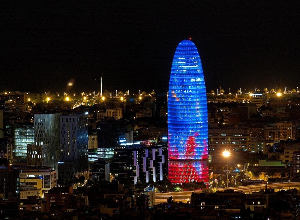 Башня Агбар ночью