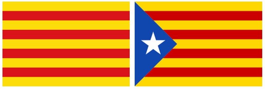 Флаг Каталонии и сепаратистов
