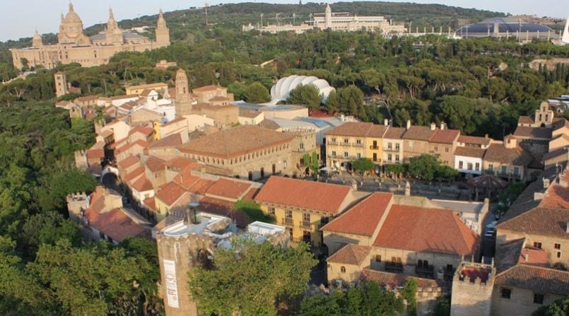 Испанская деревня с высоты