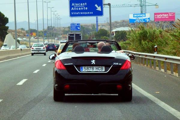 Поездка в Аликанте на машине