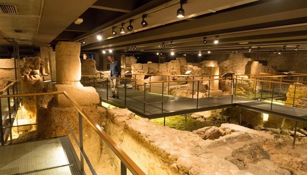 Подземная часть музея