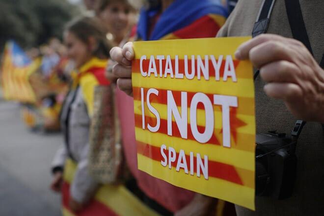 Плакат каталонских сепаратистов