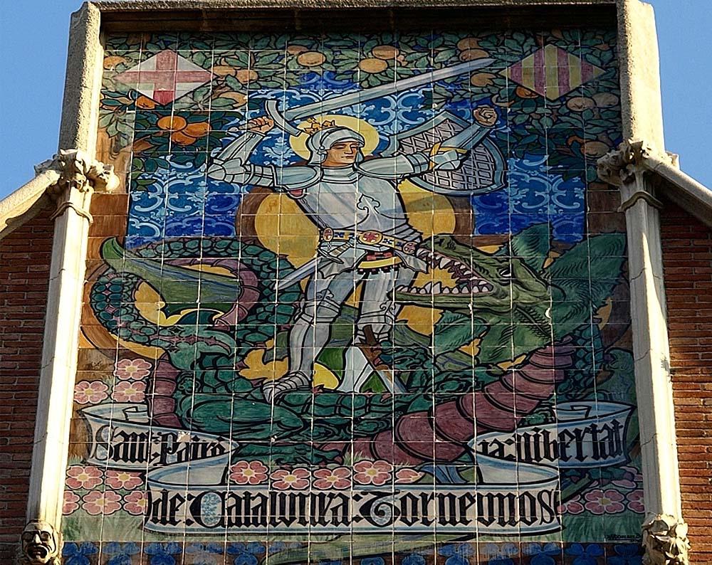 Панно с изображением Sant Jordi